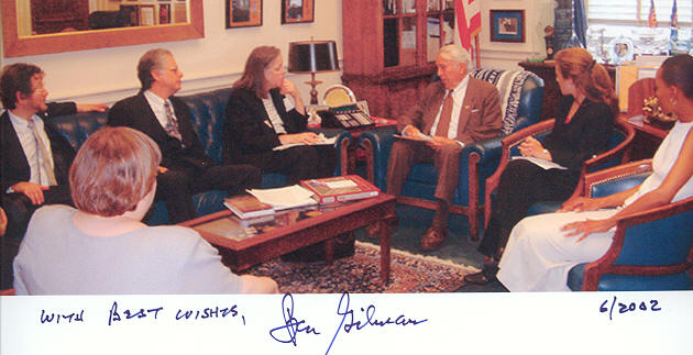 RESULTS partners meeting with Rep. Gilman (R-NY), June 18, 2002